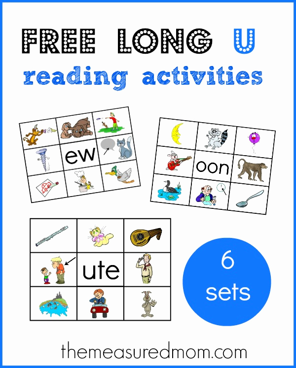 Long U sound Worksheet Awesome Learn Long U Word Families with these Free Printables
