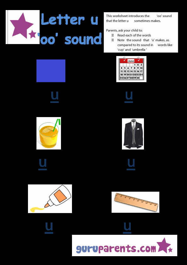 Long U sound Worksheet Elegant Kindergarten Worksheets