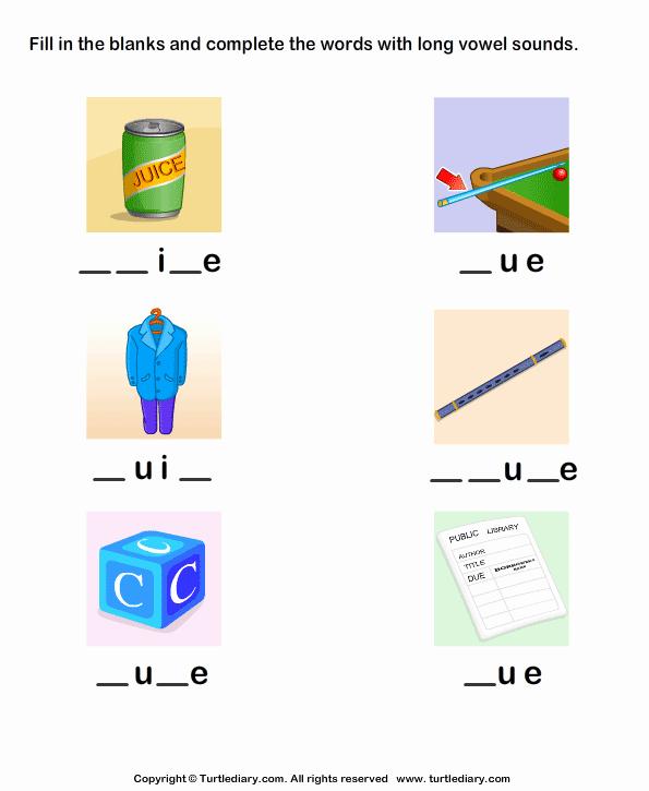Long U sound Worksheet Inspirational Long U sound Words for Kindergarten Lookalike
