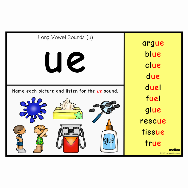 Long U sound Worksheet Inspirational Long Vowel sounds U English