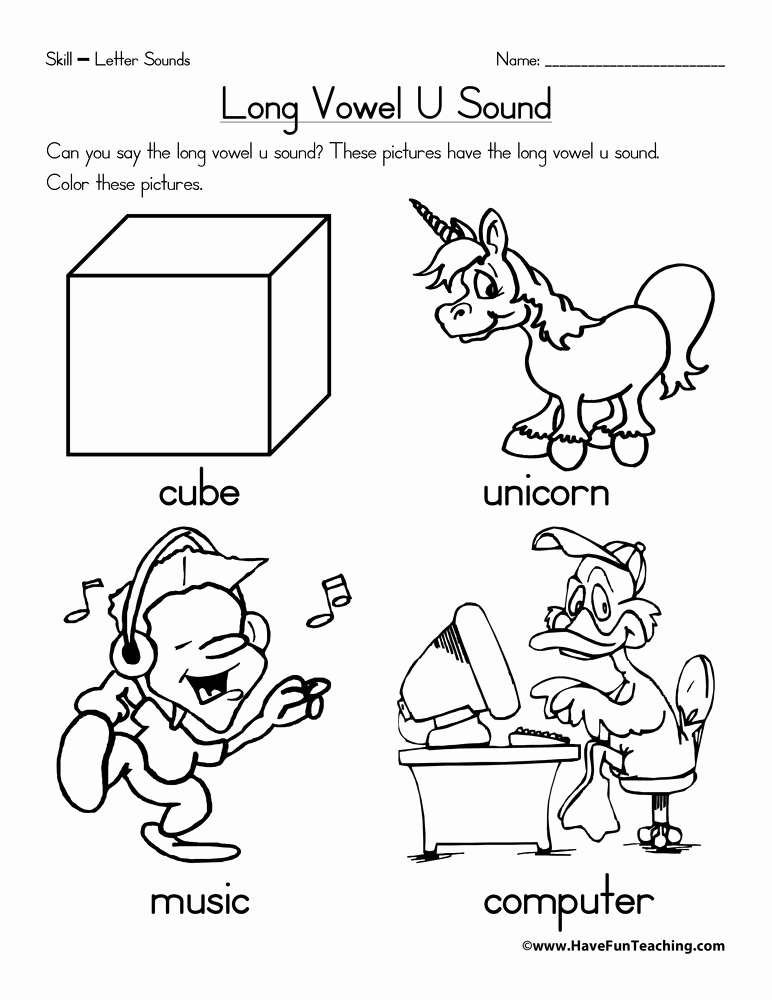 Long U sound Worksheet Luxury Alphabet Worksheets Page 3 Of 12 Have Fun Teaching