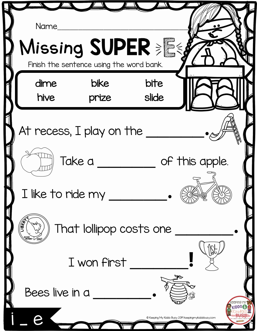 Long Vowel Silent E Worksheet Beautiful 15 Best with All Vowels 1st Grade Phonics Worksheets