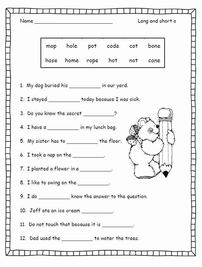 Long Vowel Silent E Worksheet Elegant Long E Worksheets