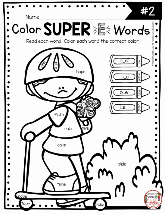 Long Vowel Silent E Worksheet New Coloring Long Vowels Silent E Worksheets Superhero E In