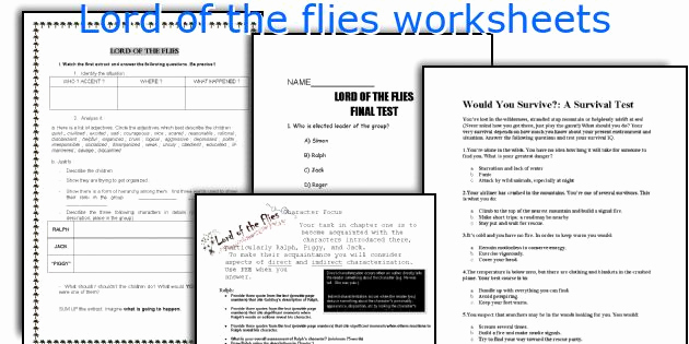Lord Of the Flies Worksheets New English Teaching Worksheets Lord Of the Flies