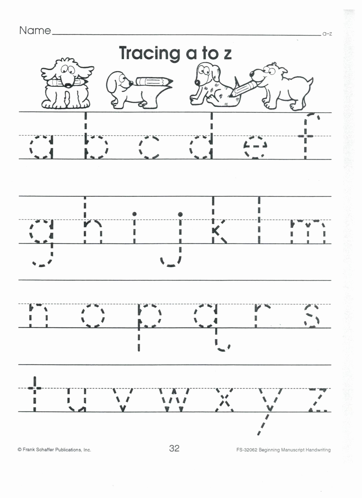 Lowercase Alphabet Tracing Worksheets Lovely English Print Abc A to Z Lower Case 001
