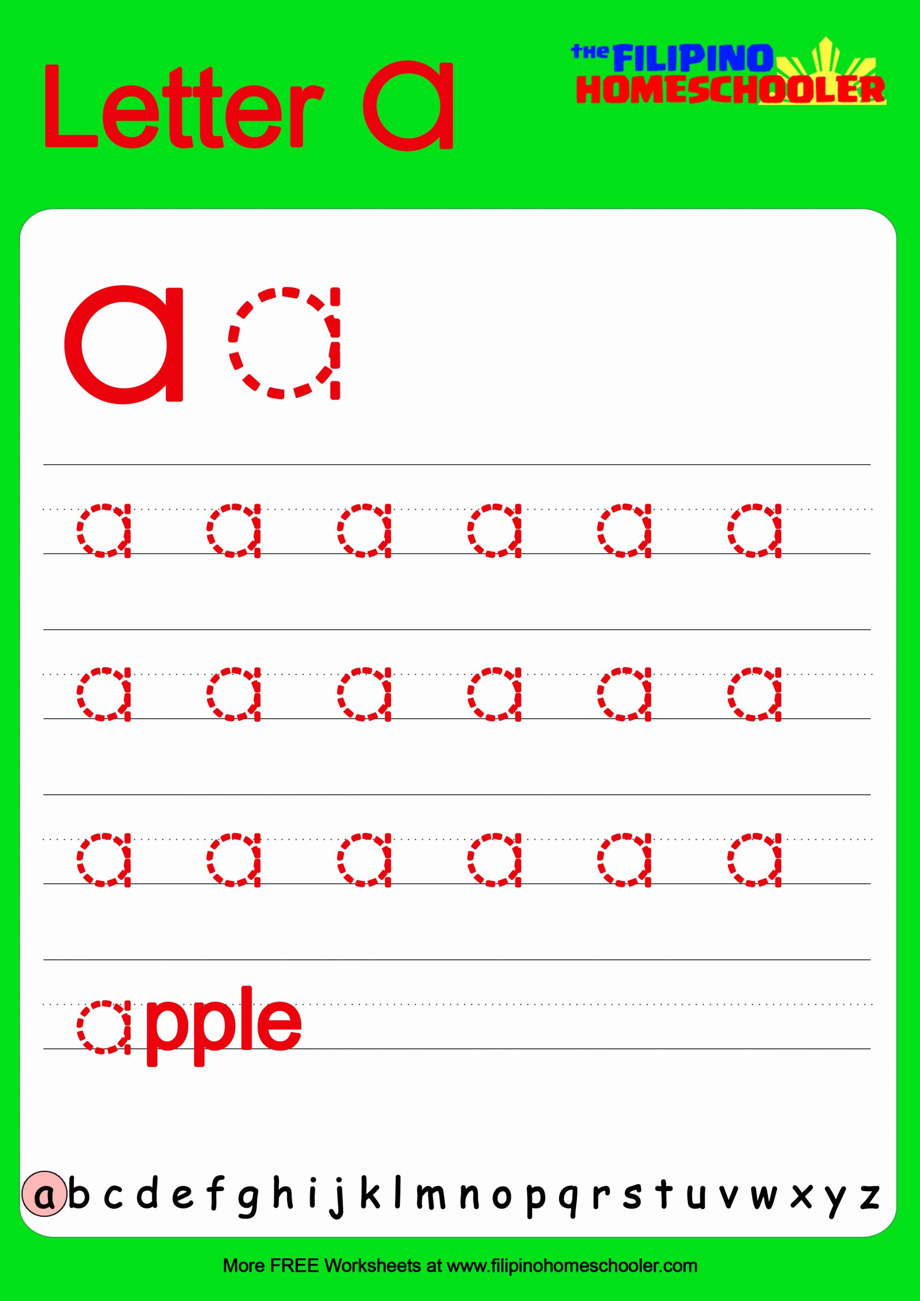 Lowercase Alphabet Tracing Worksheets Lovely Free Lowercase Letter Tracing Worksheets — the Filipino