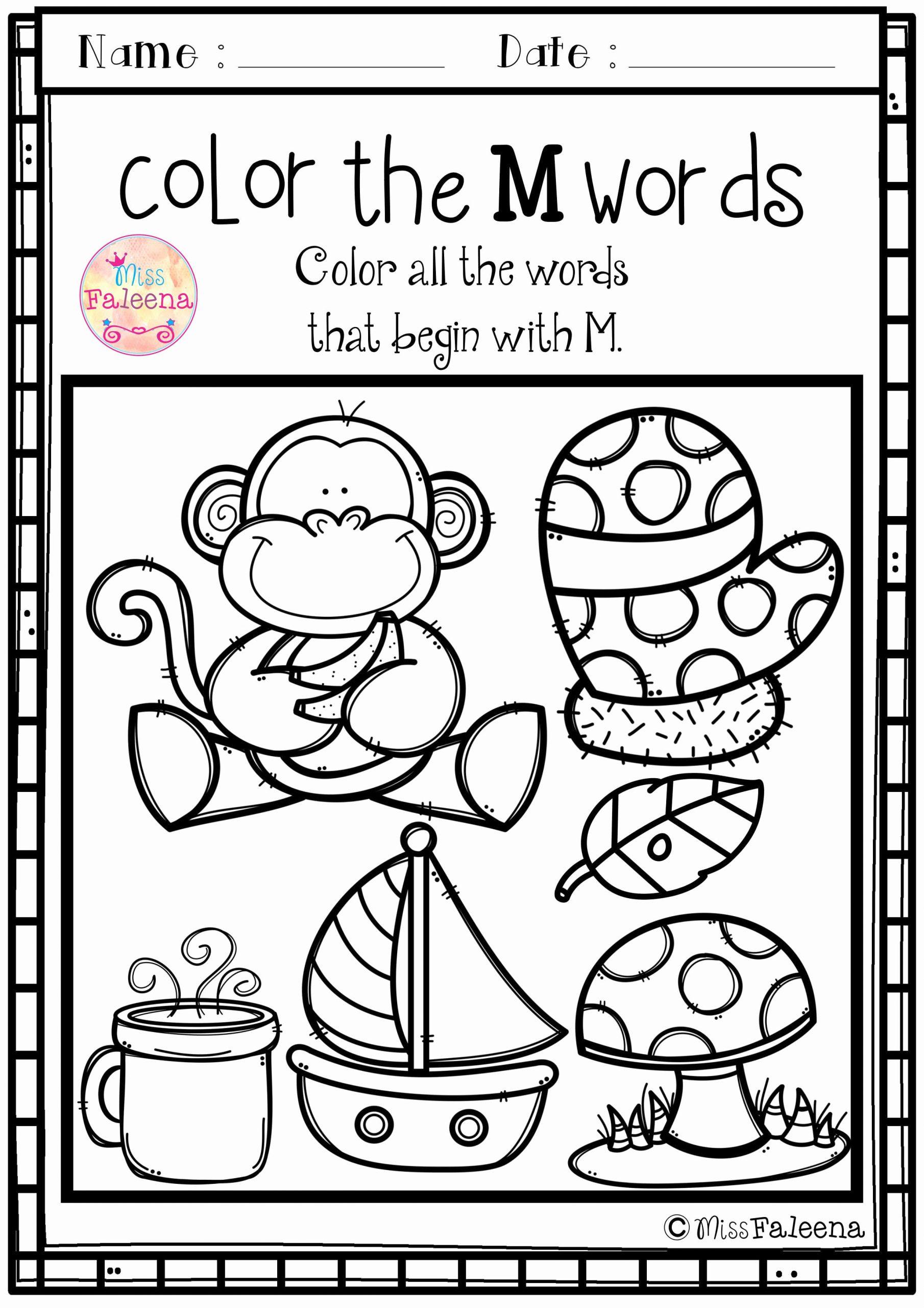 M Worksheets Preschool Beautiful Alphabet Letter Of the Week M