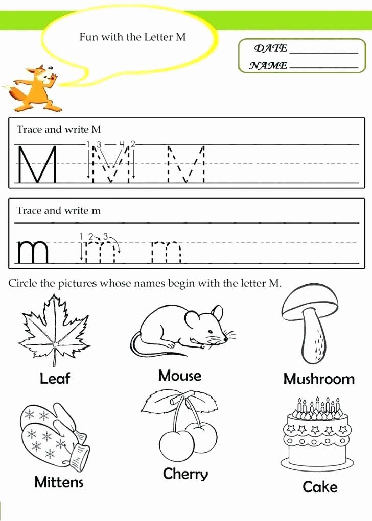 M Worksheets Preschool Beautiful Letter M Worksheets Kindergarten 20 Instructive Letter M