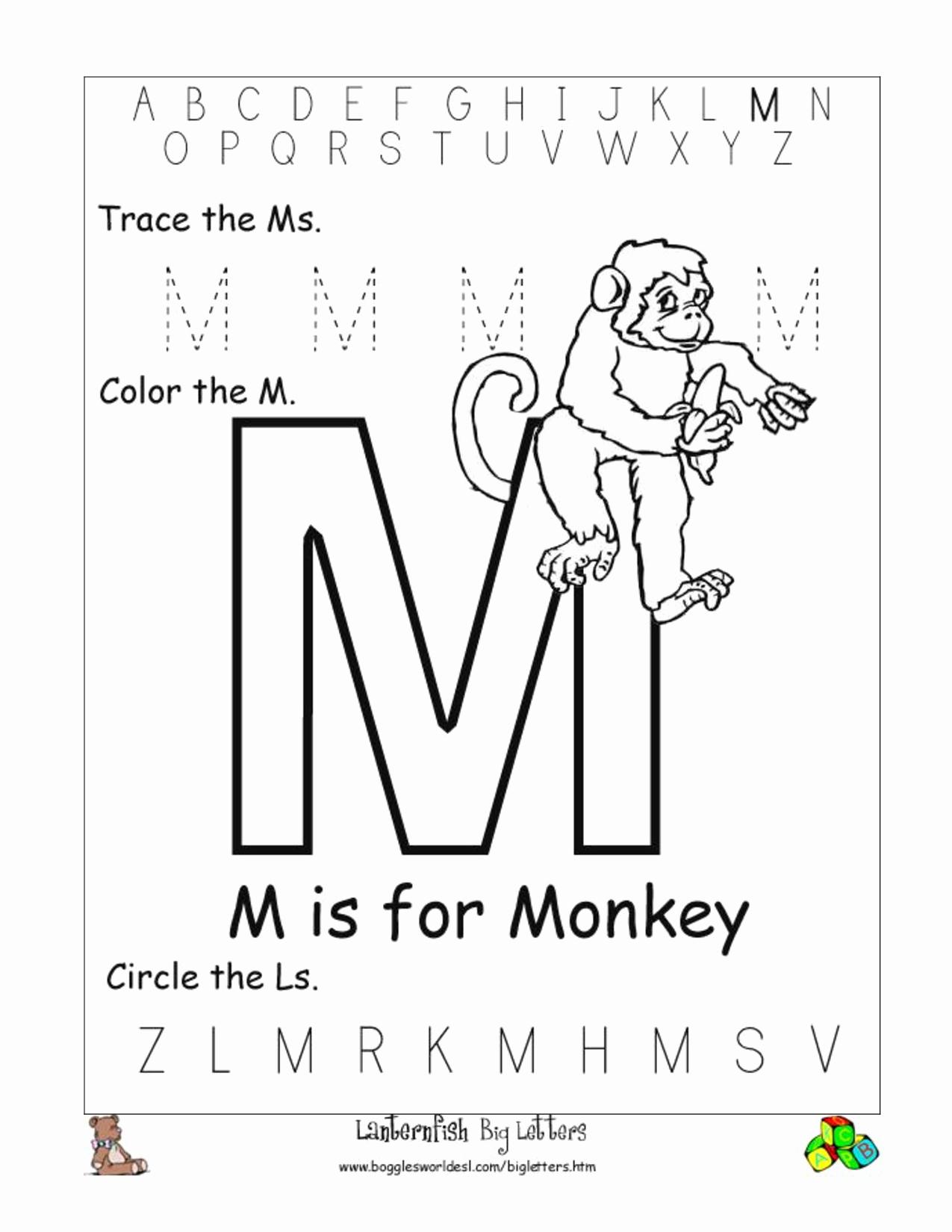 M Worksheets Preschool Best Of 6 Best Of Letter M Worksheets Printable Free