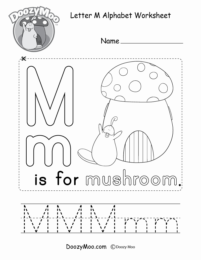 M Worksheets Preschool Fresh Cute Uppercase Letter M Coloring Page Free Printable