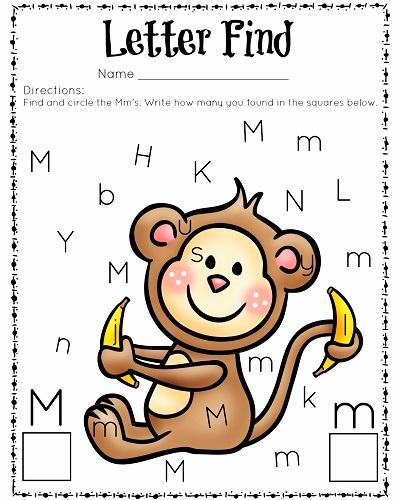 M Worksheets Preschool Fresh Letter Find M Color for Preschool Preschool Crafts