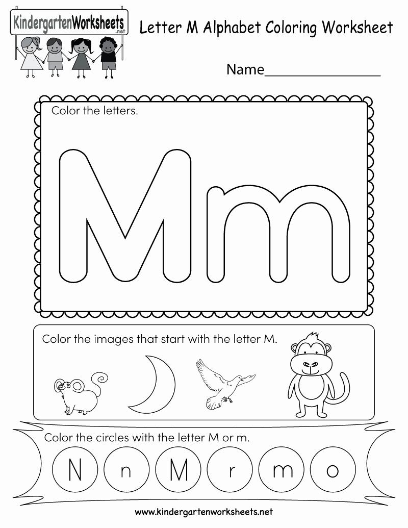 M Worksheets Preschool Fresh Letter M Coloring Worksheet Free Kindergarten English