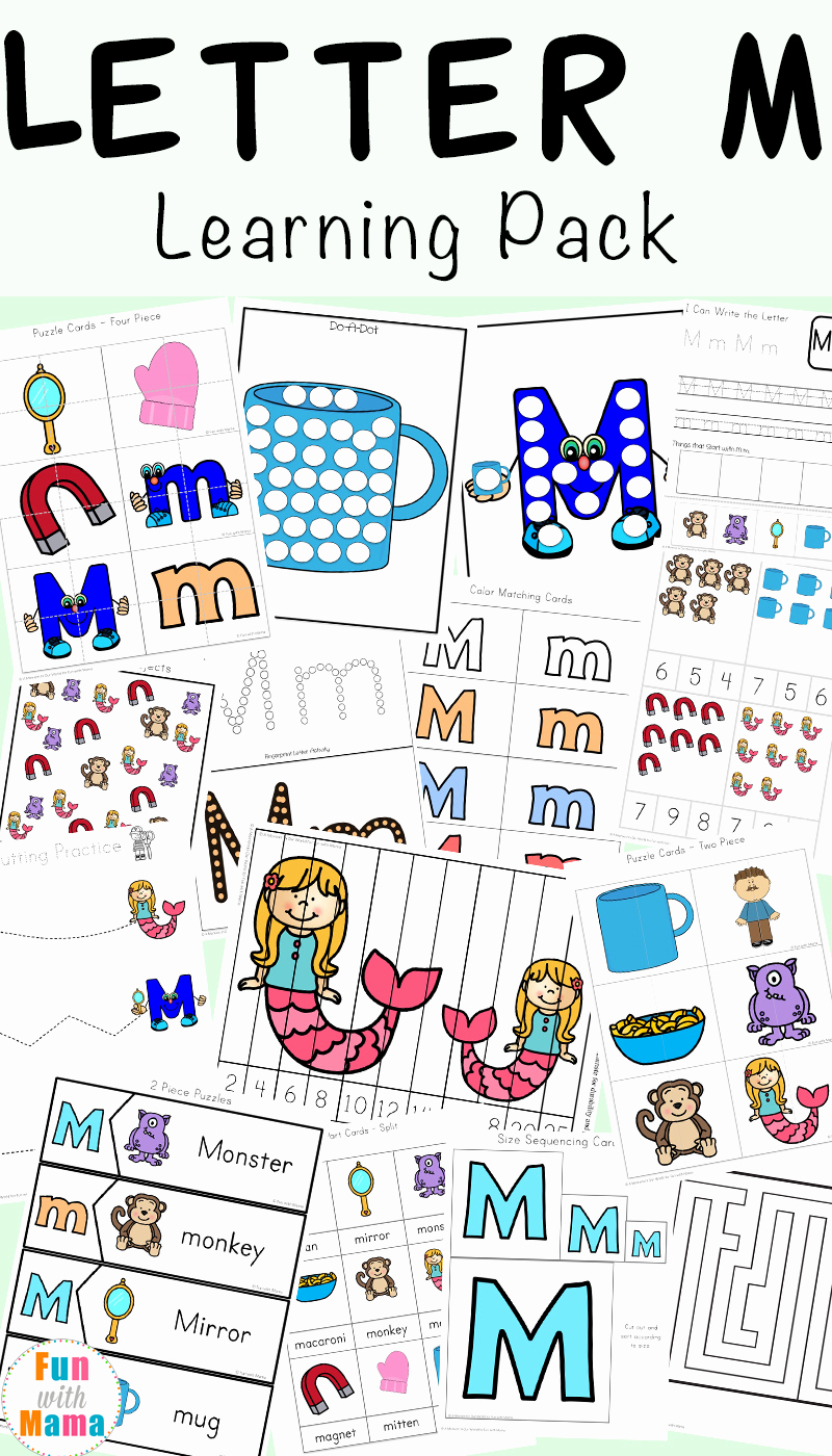 M Worksheets Preschool Inspirational Letter M Worksheets Fun with Mama