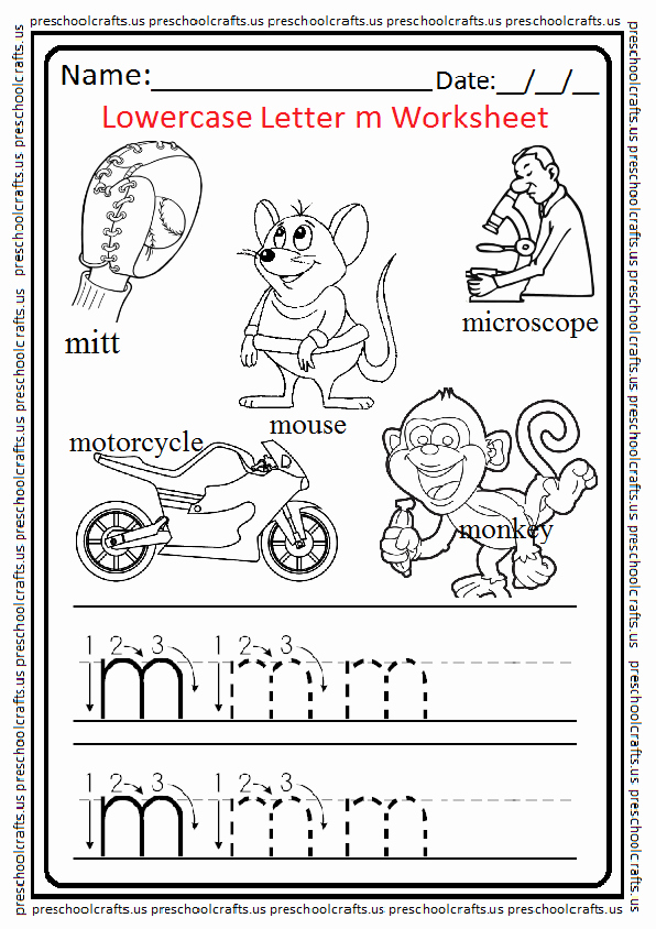 M Worksheets Preschool Inspirational Lowercase Letter M Worksheets Free Printable Preschool