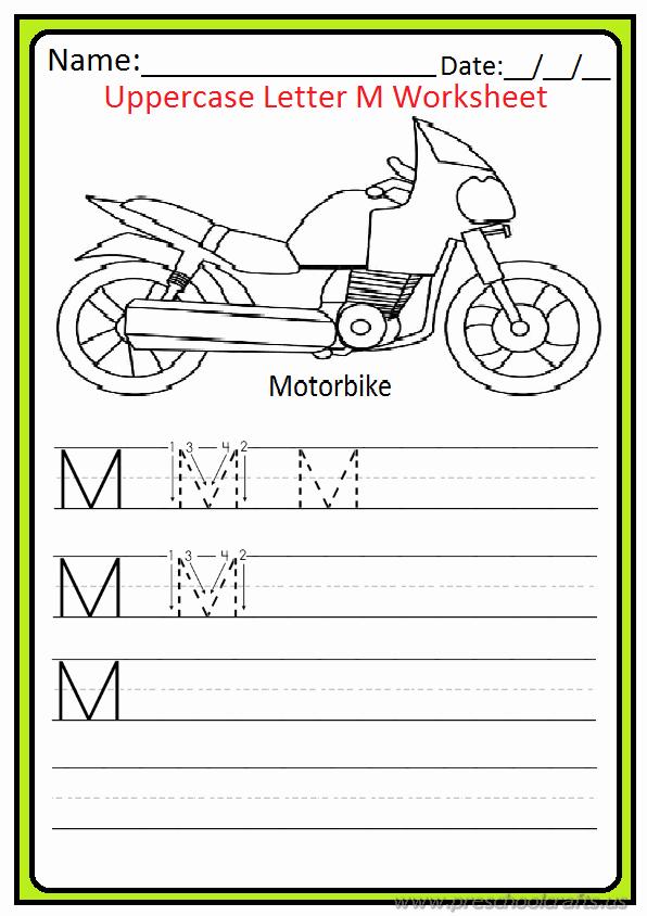 M Worksheets Preschool Lovely Uppercase Letter M Worksheets Free Printable Preschool