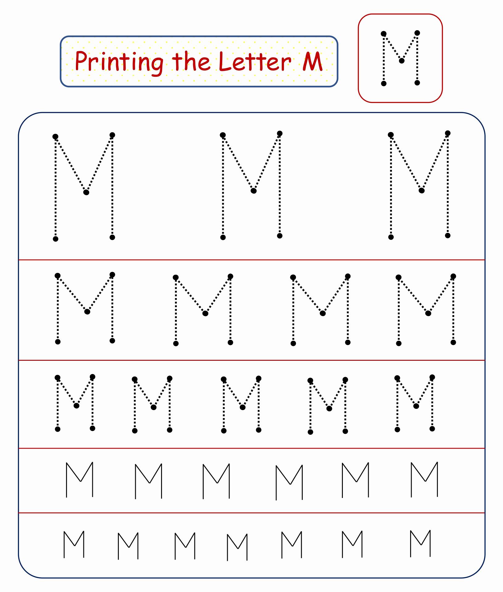 M Worksheets Preschool Luxury 9 Best Of Free Preschool Do A Dot Printables Letter
