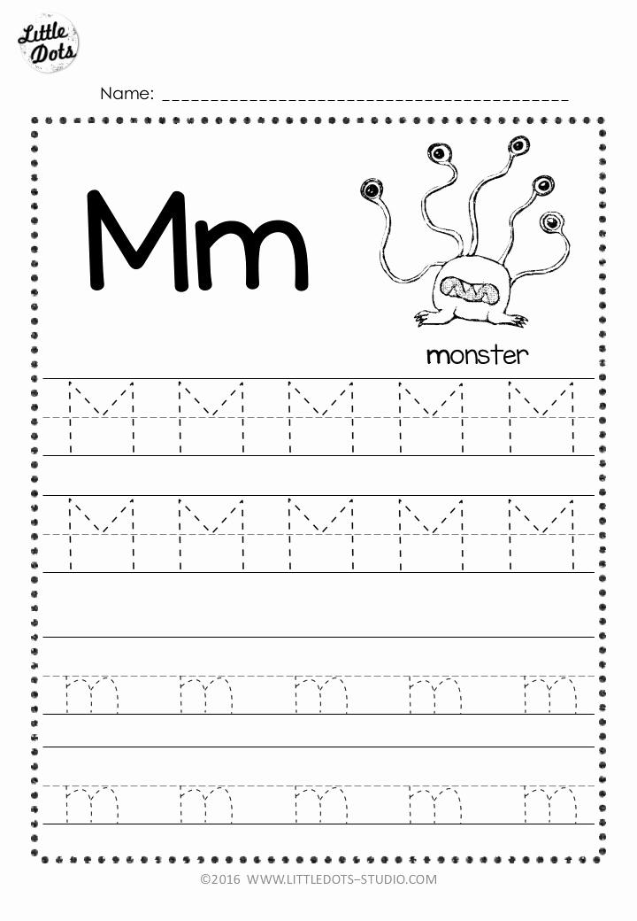 M Worksheets Preschool Luxury Free Letter M Tracing Worksheets