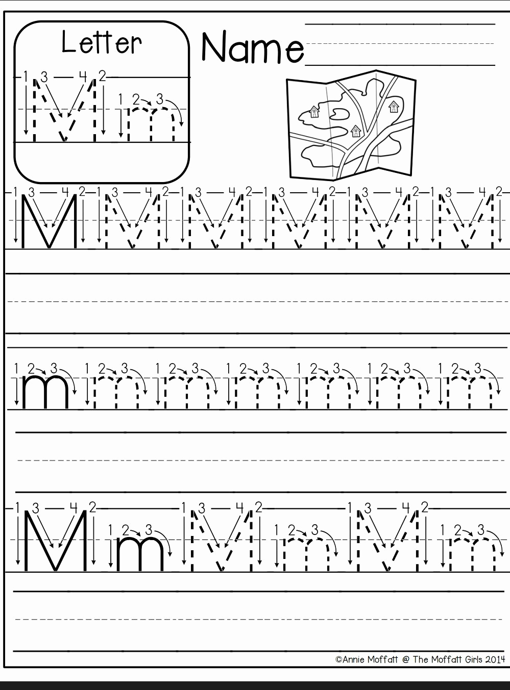 M Worksheets Preschool New Tracing Letter M Worksheets Kindergarten