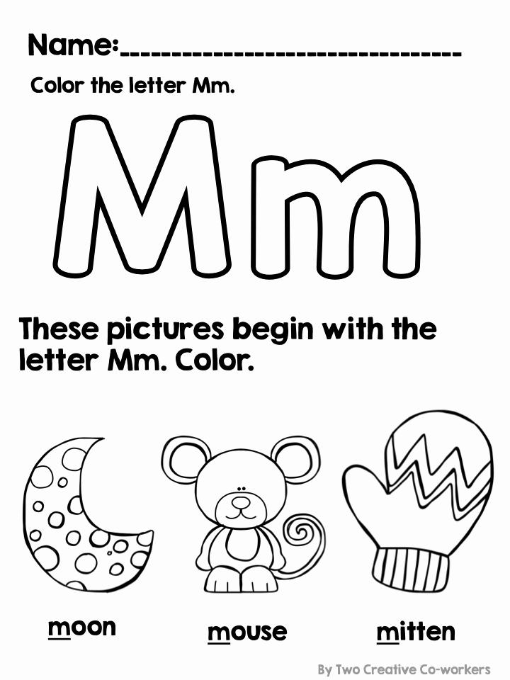 M Worksheets Preschool Unique Letter M Alphabet Practice