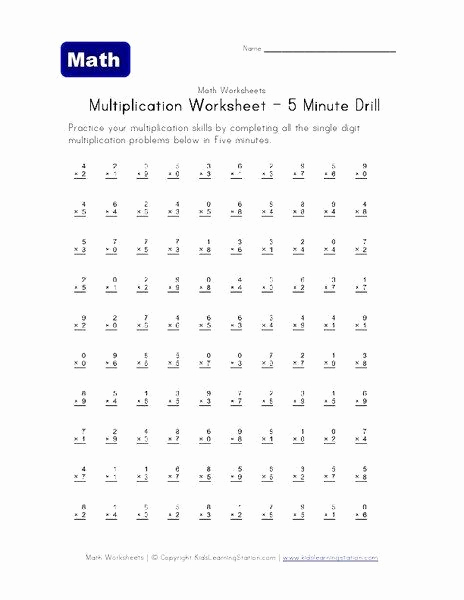 Mad Minute Subtraction Worksheets Beautiful Mad Minute Subtraction Worksheets 5 Minute Multiplication