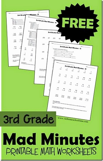Mad Minute Subtraction Worksheets New Free Printable Mad Minutes Math Worksheets