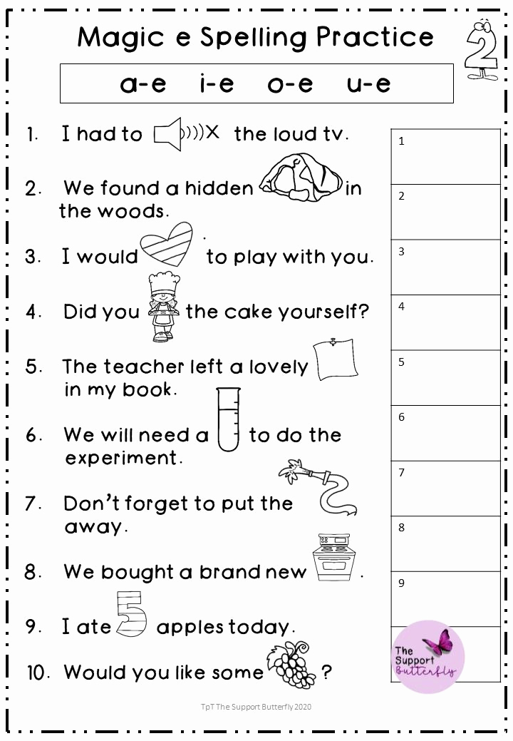 Magic E Worksheets Free Awesome Magic E Worksheets In 2020