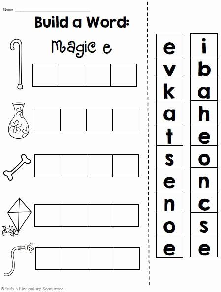 Magic E Worksheets Free Beautiful Magic E Long Vowel Cvce Phonics Word Work Printables