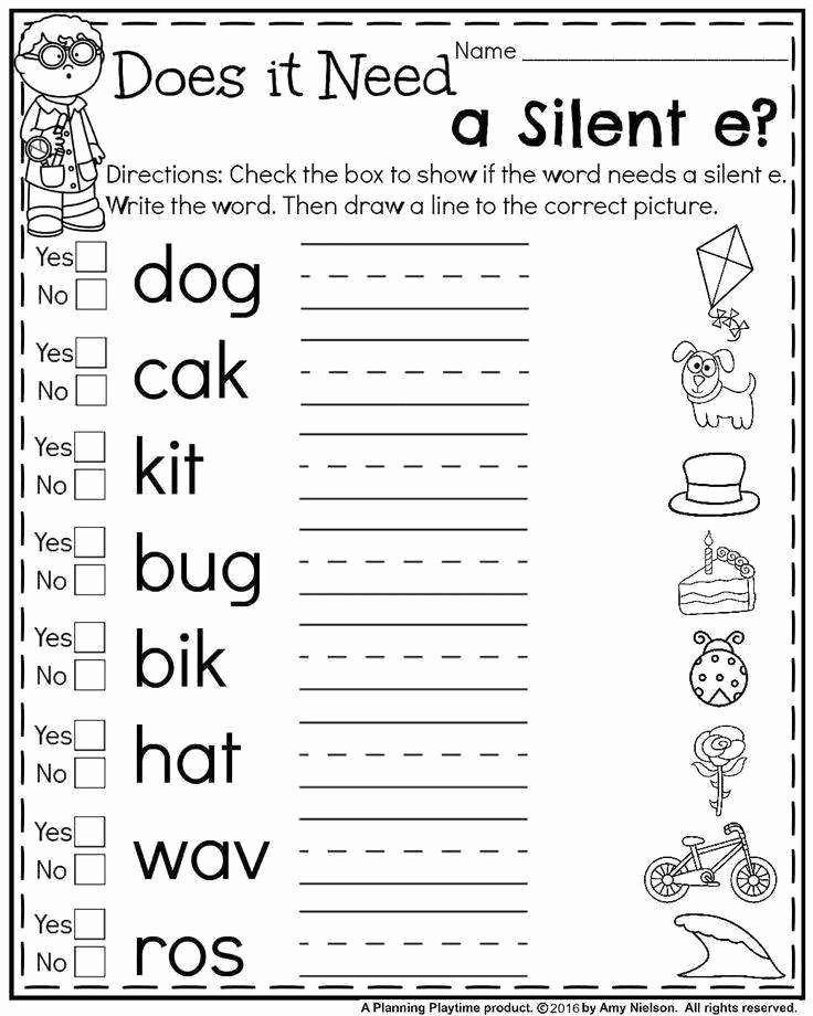 Magic E Worksheets Free Fresh Silent E Worksheets