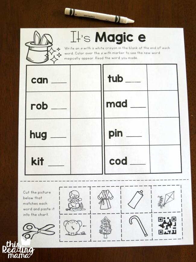 Magic E Worksheets Free Lovely More Magic E Words Freebies
