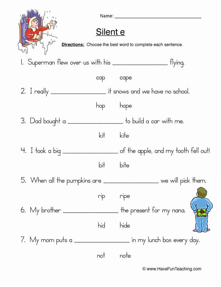 Magic E Worksheets Free New Silent E Worksheets