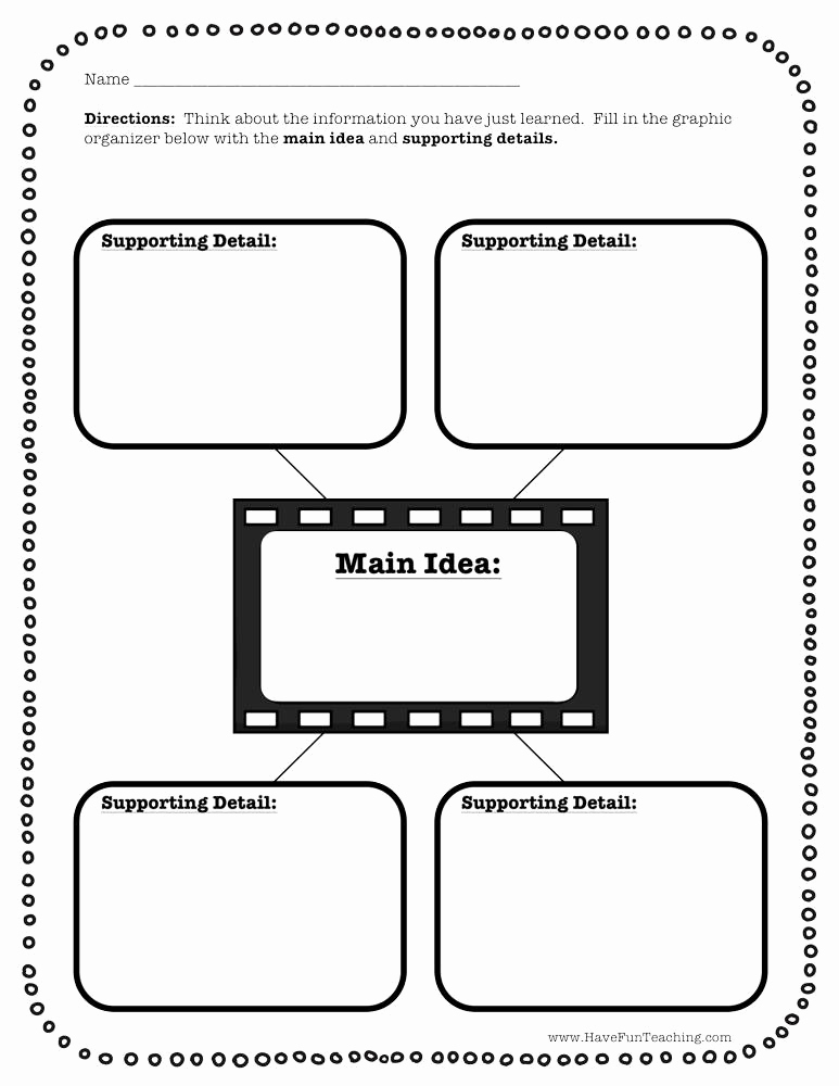 Main Idea and Details Worksheet Awesome Fourth Grade Main Idea Resources