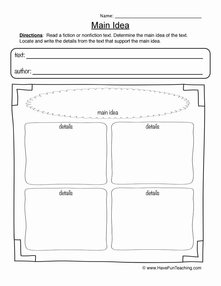 Main Idea and Details Worksheet Beautiful Main Idea Worksheets 3rd Grade Mon Core High School
