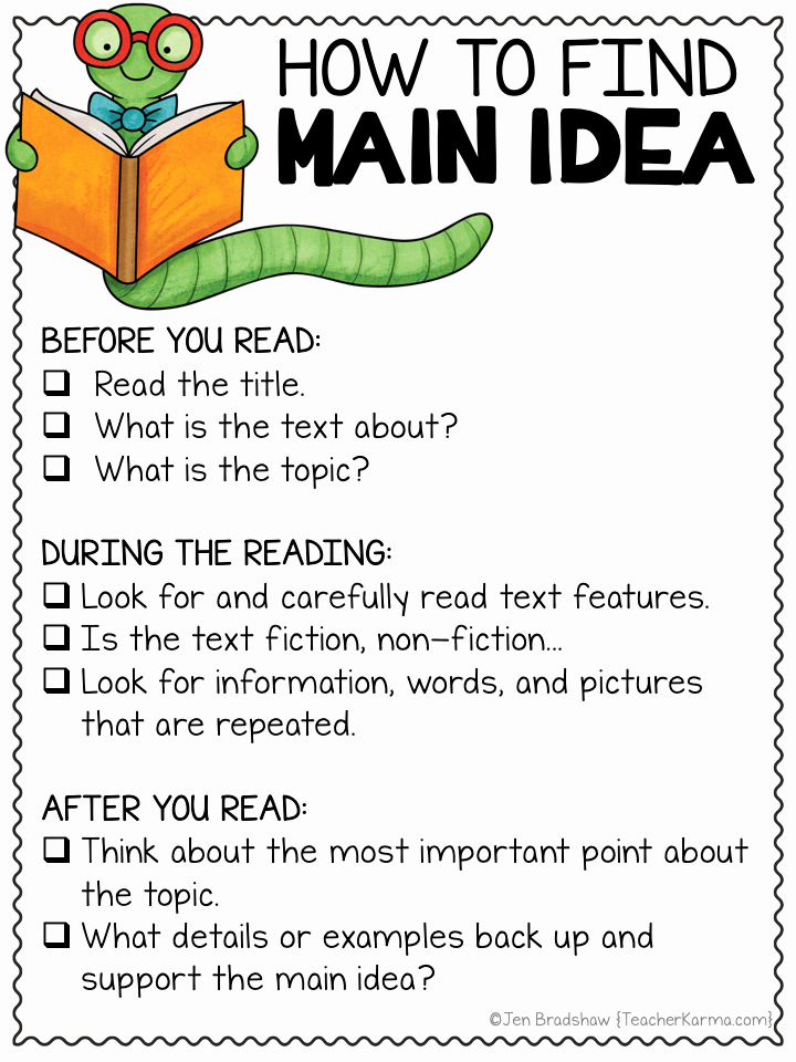 Main Idea and Details Worksheet Best Of Simple Steps for How to Find Main Idea — Teacher Karma