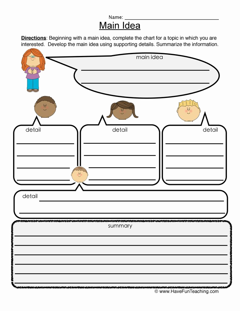 Main Idea and Details Worksheet Elegant 34 Summary and Main Idea Worksheet 1 Worksheet Resource