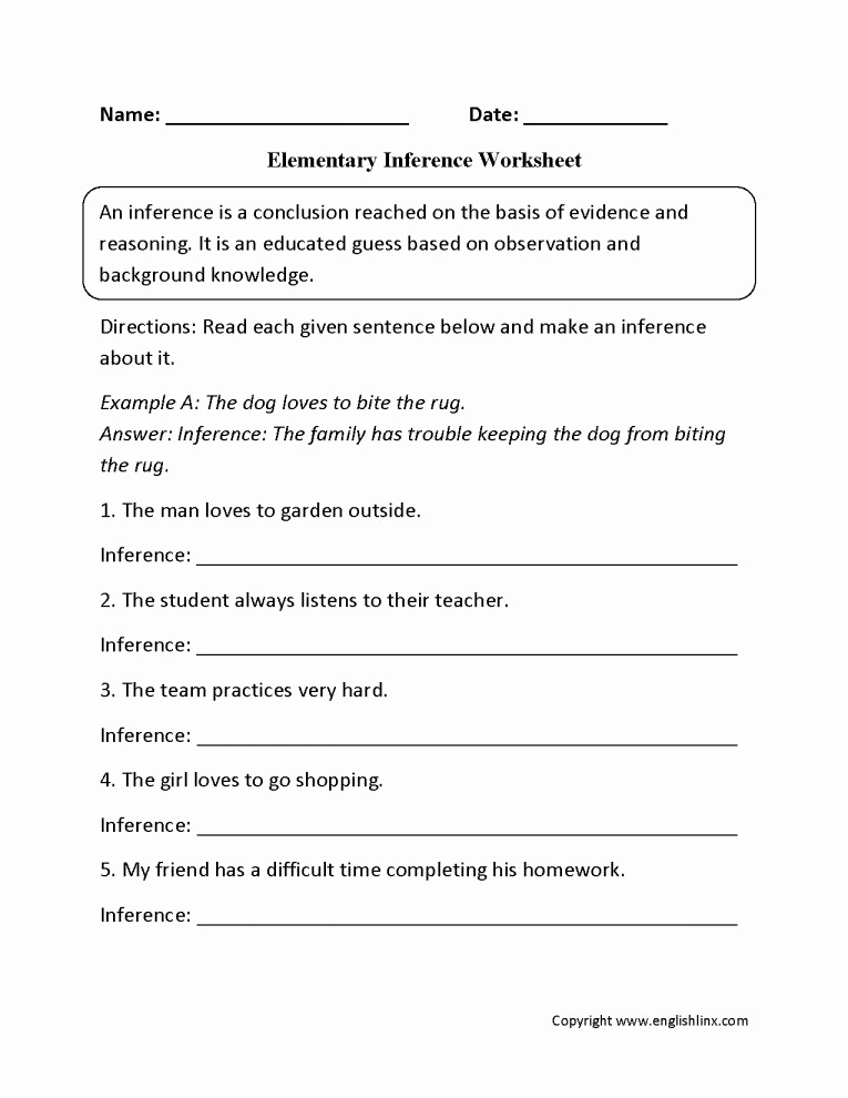 Making Inference Worksheets 4th Grade Fresh 12 4th Grade Inferences Worksheets