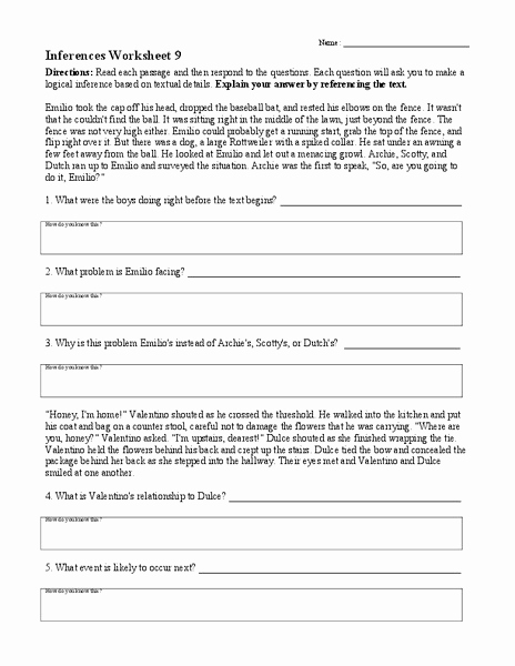 Making Inferences Worksheet 4th Grade Awesome Inferences Worksheet 9 Worksheet for 4th 8th Grade