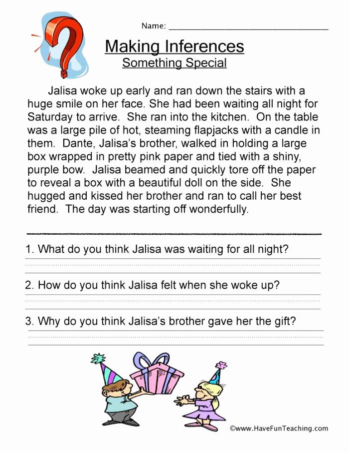 Making Inferences Worksheet 4th Grade Beautiful 20 Making Inferences Worksheets 4th Grade Suryadi