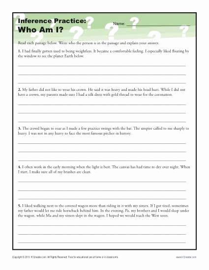 Making Inferences Worksheet 4th Grade Best Of Inference Worksheets 4th Grade thekidsworksheet