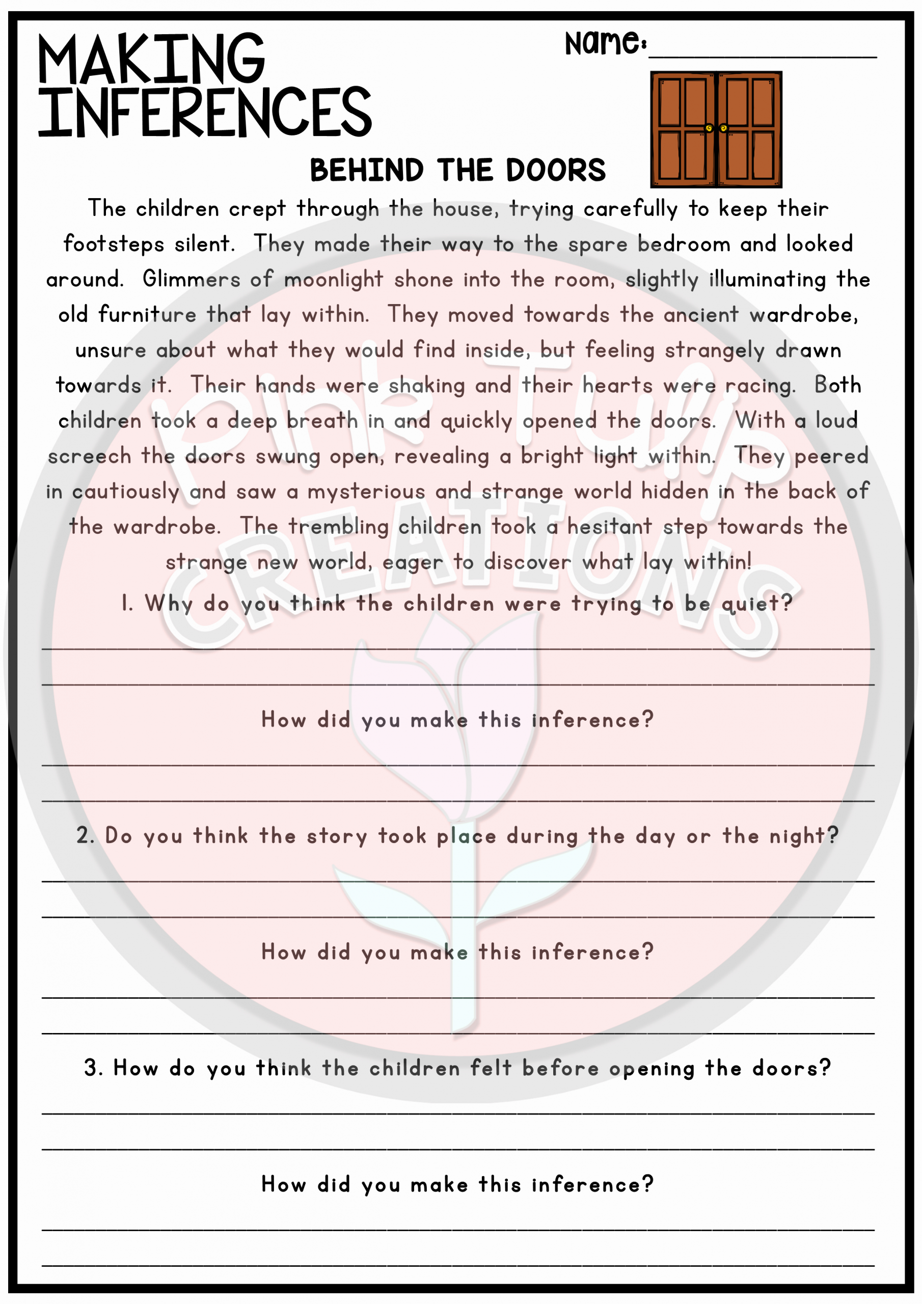 Making Inferences Worksheets 4th Grade New Making Inferences and Drawing Conclusions Reading