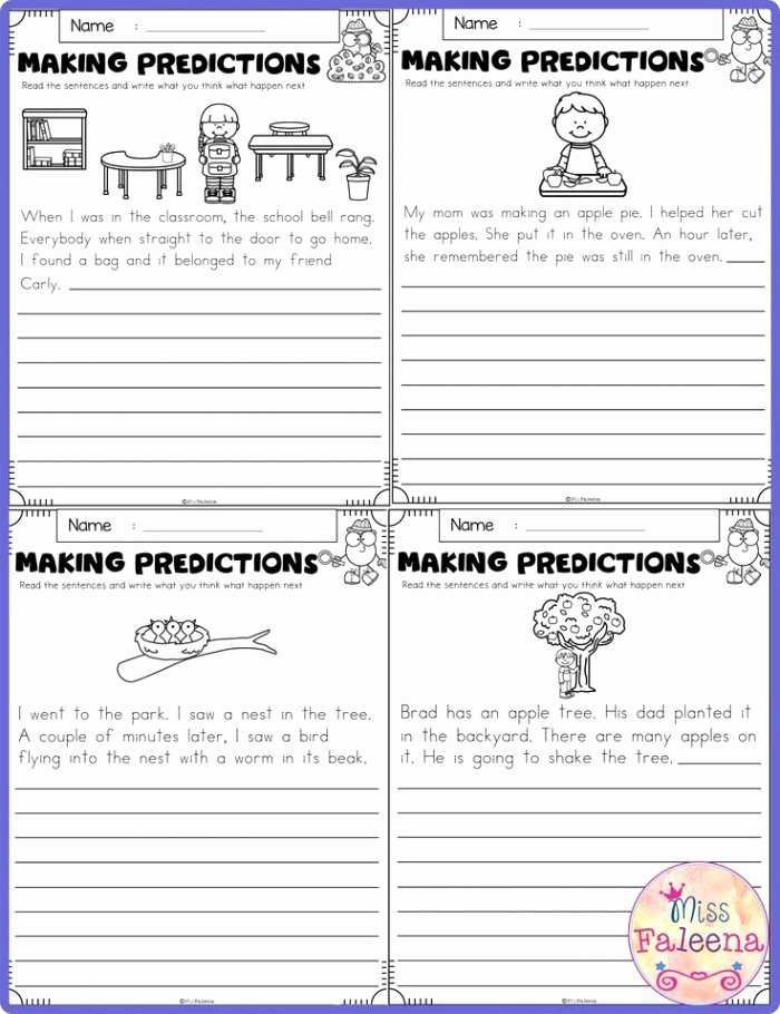 Making Predictions Worksheets 2nd Grade Best Of Making Predictions Worksheet 2nd Grade