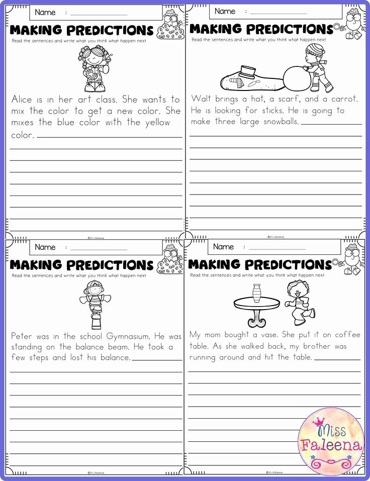 Making Predictions Worksheets 2nd Grade Fresh Making Predictions Worksheet 2nd Grade