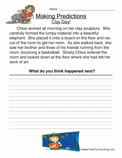 Making Predictions Worksheets 2nd Grade New 20 Making Predictions Worksheet 2nd Grade