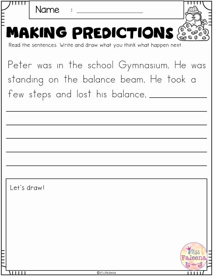 Making Predictions Worksheets 2nd Grade New Making Predictions Worksheet 2nd Grade
