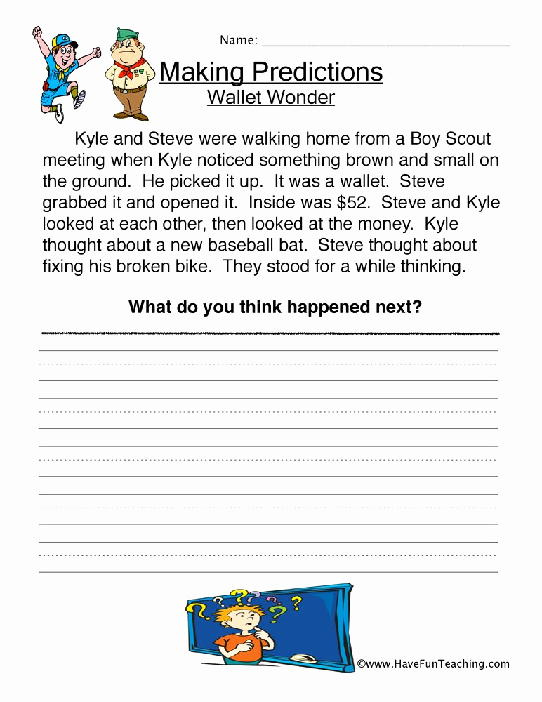 Making Predictions Worksheets 2nd Grade Unique Making Predictions Worksheet 2nd Grade