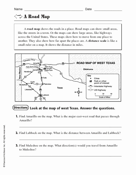 Map Scale Worksheet 4th Grade Awesome Free Map Scale Lesson Plans & Worksheets Reviewed by Teachers