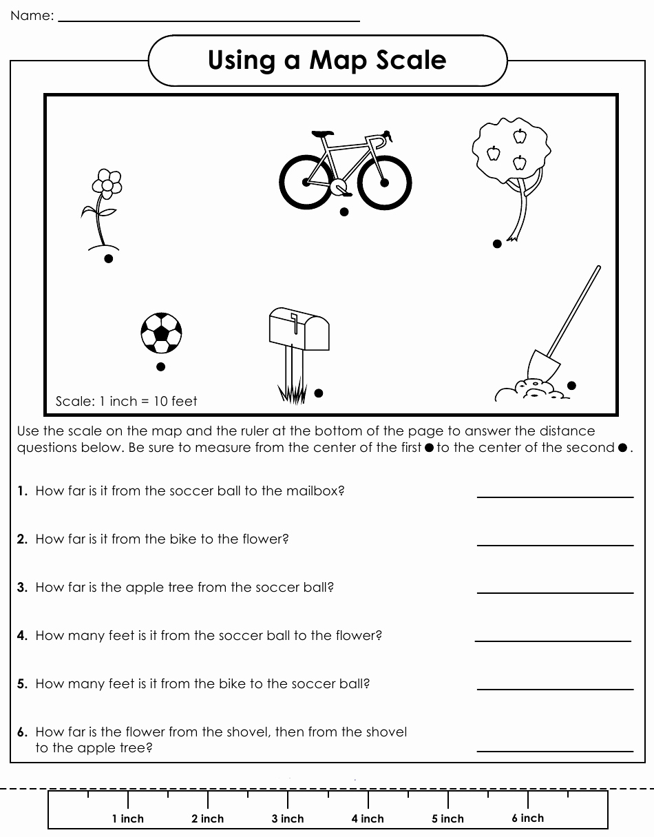 Map Scale Worksheet 4th Grade Luxury 16 Best Of Using A Map Key Worksheets 4th Grade