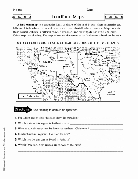 Map Scale Worksheet 4th Grade Luxury 4th Grade Types Maps Worksheet