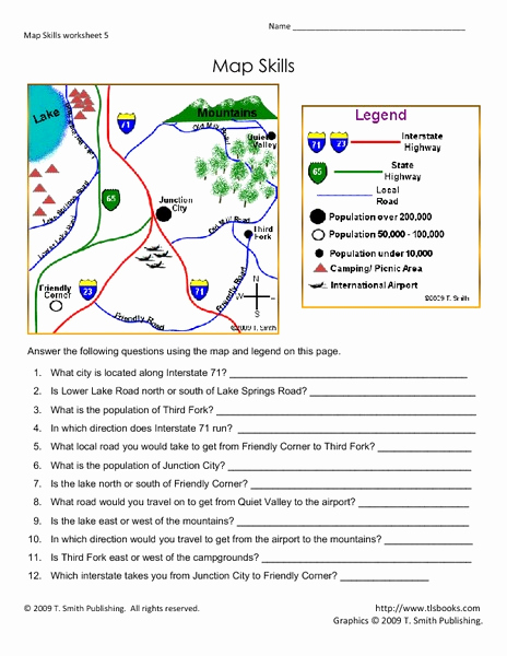 Map Scale Worksheet 4th Grade New Map Skills 101 Collection