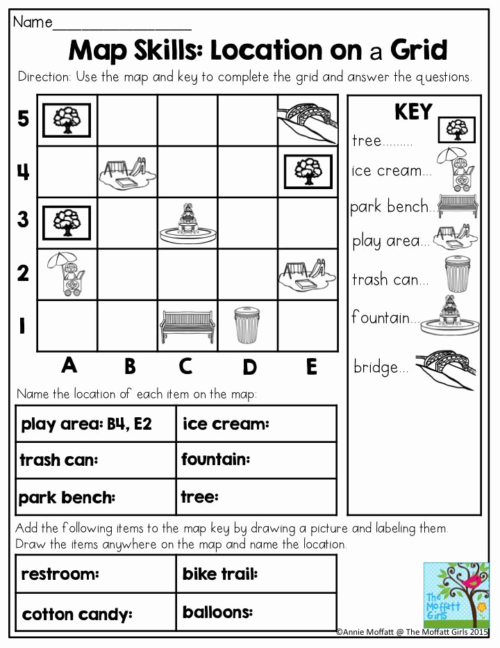 Map Skills Worksheets Answers Awesome Image Result for Map Skills 2nd Grade